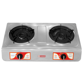 Standard SGS232i Double Burner Gas Stove (Silver)