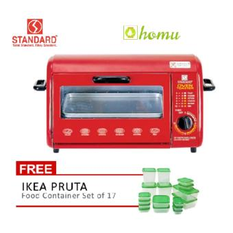 Standard SOT 603 Wide Oven Toaster 8L (Red) with Ikea Pruta (Green) Price Philippines