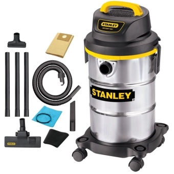 Stanley 30 Liters Wet/Dry Vacuum Cleaner (Stainless)