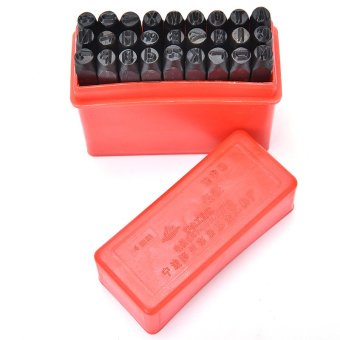Steel Punch Stamp Die Set Metal 27pcs Stamps Letters Alphabet Craft Tools 4MM