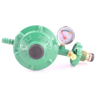 Sunco LPG Regulator with Pressure Gauge (Green)