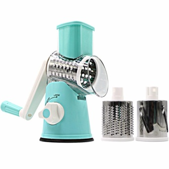 Swift Rotary Drum Grater Vegetable Cheese Cutter Slicer ShredderGrinder with 3 Interchanging Ultra Sharp Cylinders Stainless SteelDrums - intl Price Philippines