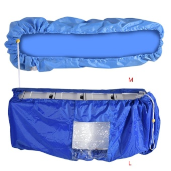 TMISHION Air Conditioner Cleaning Dust Washing Cover WaterproofProtector (Blue Color L) - intl - 4