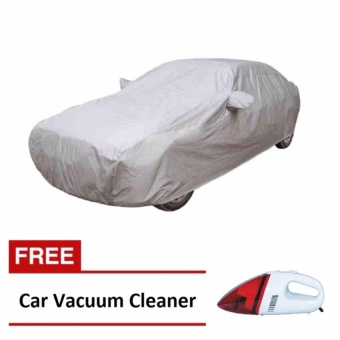 Trendsetter Sedan Car Cover (Grey) with FREE Car Vacuum CleanerPortable (Red)