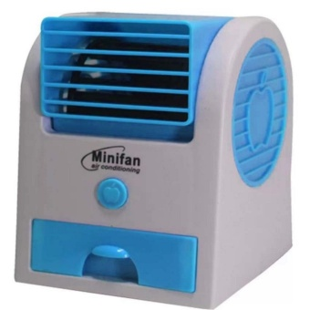 USB Electric Air Conditioning Mini Fan Air cooler (Blue)