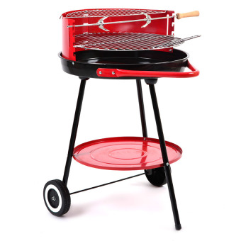 Vector 5340-L Barbecue Round Shape Grill (Red)