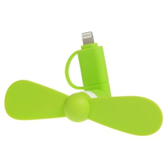 VROOM 2 in 1 Portable Mini Micro USB Lightning Mobile phone Fan foriPhone Android - intl Price Philippines