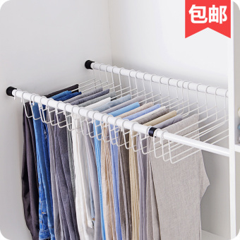Wardrobe hanging pants clothes rack storage rack pant rack