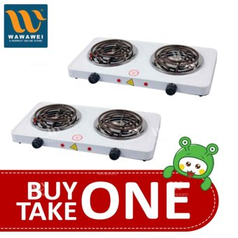 Wawawei Best Quality 1000W Double Burner Hot Plate Electric Cooking YQ-2020B BUY ONE TAKE ONE 1