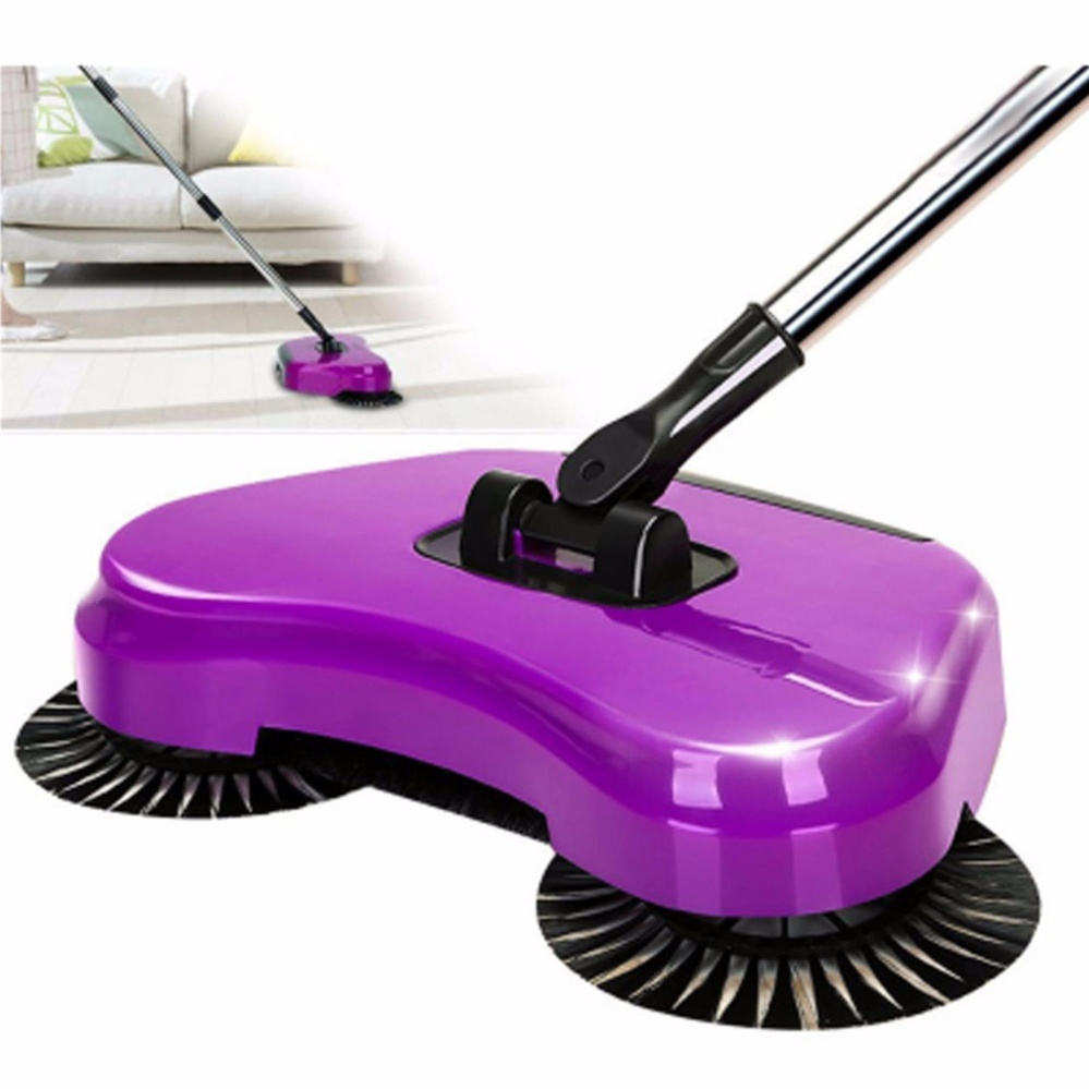 ... XZY- 3in1 Sweeping Robot Vacuum Cleaner without Electricity Household Hand Push Broom(color may ...