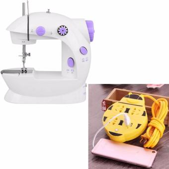 XZY Double Thread Sewing Machine with Foot Pedal and Adapter(White/Lavender) With Extension Wire Cord with USB Socket 180cm(Yellow) Price Philippines