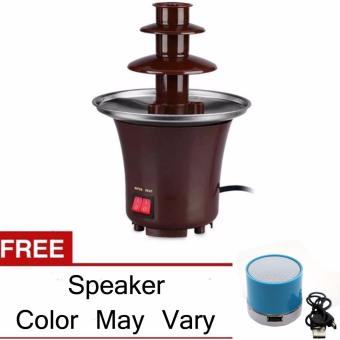 XZY Mini Chocolate Fondue Fountain (Brown) with Bluetooth SpeakerBundle( Assorted color) Price Philippines