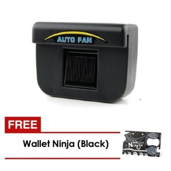 Zover Auto Cool Solar-Powered Car Window Ventilation System BlowsHot Air Out of Parked Car (Black) and FREE Wallet Ninja