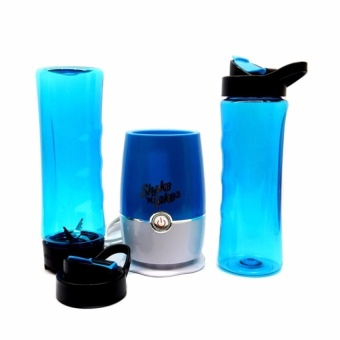 Zover Shake N Take 3 Mini Sports Bottle Electric Blender With ExtraBottle (Blue) - 2