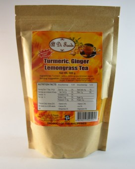 1 x Turmeric, Ginger and Lemongrass Tea 500 gms Pouch