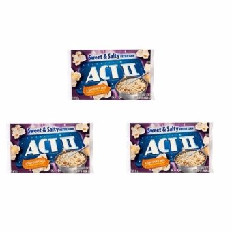 ACT II Sweet & Salty Popcorn 85 grams (SET OF 3)