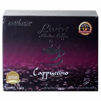 Alliance Global Liven Alkaline Coffee Cappuccino Flavor Box of 20s