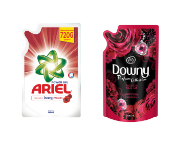 Ariel with Downy Liquid Laundry Detergent 360mL + Downy Passion 800mL