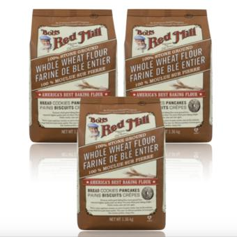 Bob's Red Mill - 100% Stone Ground Whole Wheat Flour, 1.36kg Set of3