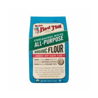 Bob's Red Mill Organic Unbleached White Flour, 5 Lbs