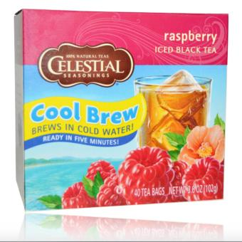 Celestial Seasonings Tea Cool Brew Raspberry 102g 40 Tea Bags