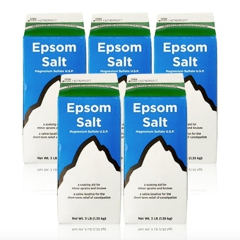 Epsom Salt - Saline Laxative 2lbs Set of 5