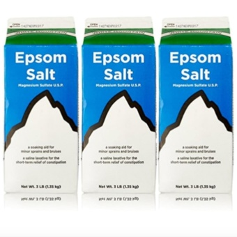 Epsom Salt - Saline Laxative Set of 3