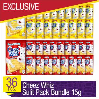 EXCLUSIVE Cheez Whiz Spread 15g Sulit Pack Bundle - Set of 36