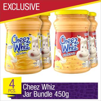 EXCLUSIVE Cheez Whiz Spread 450g Jar Bundle- Set of 4