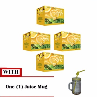 FH Slimming Juice Tea Lemon with Mug (4 Boxes)
