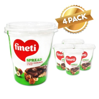 Fineti Hazelnut Spread with Cocoa 400g (Pack of 4)