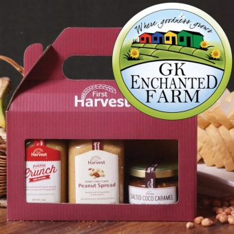 FIRST HARVEST GIFT SET | Includes the Peanut Spread, Peanut Crunchand Salted Coco Caramel from First Harvest Price Philippines