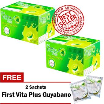 First Vita Plus Authentic Natural Health Drink Dalandan 20 Sachets/Box Sets of 2 with FREE 2 Sachets First Vita Plus Guyabano