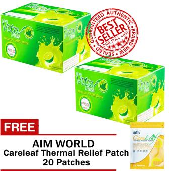 First Vita Plus Authentic Natural Health Drink Dalandan 20 Sachets/Box Sets of 2 with FREE Aim Global Careleaf Thermal Relief Patch