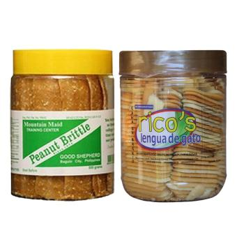 Good Shepherd Peanut Brittle 500g Bundled with Baguio Ricos Lengua