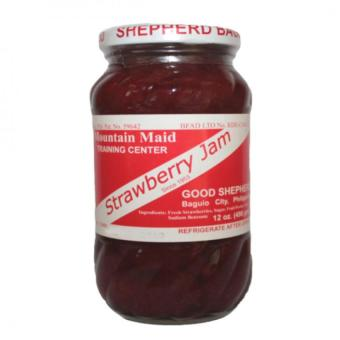 Good Shepherd Strawberry Jam 12oz (Clear/Red)