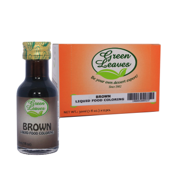 Green Leaves Concentrated Brown Liquid Food Color 30ml x 12pcs