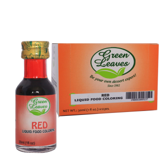 Green Leaves Concentrated Red Liquid Food Color 30ml x 12pcs