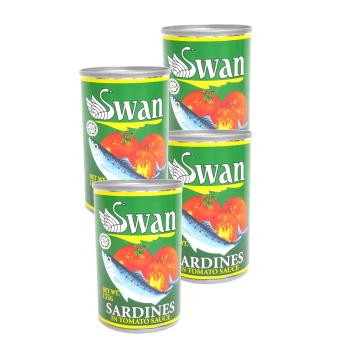 Green Swan Sardines in Tomato Sauce 155g 4's 622005 w50