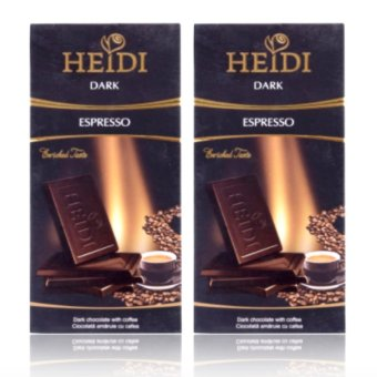 Heidi Dark Espresso Chocolate, 80g Set of 2