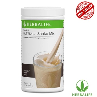 Herbalife F1 Diet Shake Mix 550g Canister (Cookies And Cream)