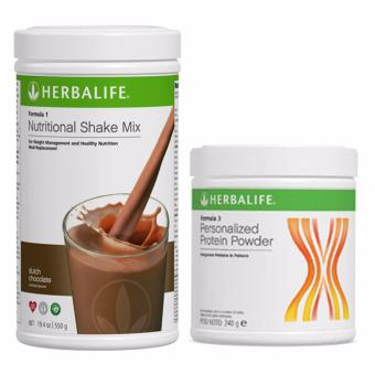 Herbalife F1 Nutritional Shake Dutch Choco 550g Canister w/ ProteinPowder