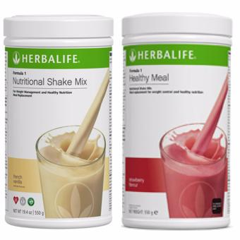Herbalife F1 Nutritional Shake French Vanilla and Wild Berry Canister Set