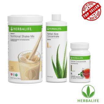 Herbalife Meal Replacement Pack (French Vanilla, Aloe Mango, Tea 50g)