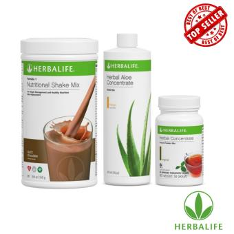 Herbalife Slimming Meal Replacement Pack (Dutch Chocolate, Aloe Mango, Tea 50g)