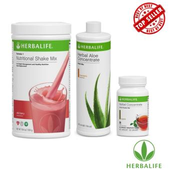Herbalife Slimming Meal Replacement Pack (Wild Berry, Aloe Mandarin Orange, Tea 50g)