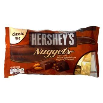 Hershey's Nuggets Milk Chocolate with Toffee And Almonds 340g