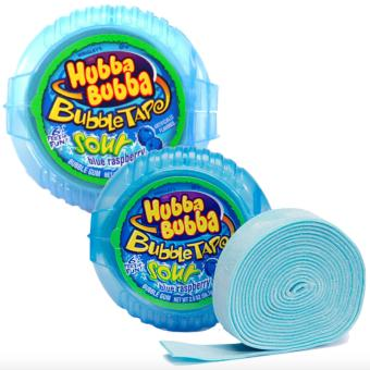 Hubba Bubba Bubble Tape, Sour Blue Raspberry, 2 Ounce Set of 2