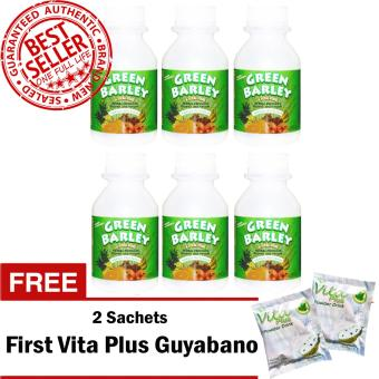HWIC Health and Wealth Green Barley (6 Bottles) with FREE 2 Sachets First Vita Plus Guyabano Flavor