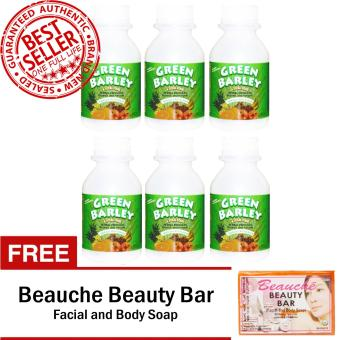 HWIC Health and Wealth Green Barley (6 Bottles) with FREE Beauche Beauty Bar